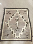 Vintage Navajo Rug Brown Cream Tan