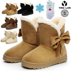 Bowknot Warm Women Flats Shoes Snow Women Boots Autumn Winter Shoes Fashion New