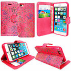 Flip Wallet Leather Cover Case for Apple iPhone Models + Free Screen Protector