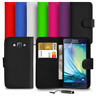 For Samsung Galaxy A5 A500F 2015 PU Leather Wallet Case Cover Mini Stylus SP