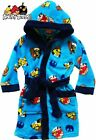 New licensed boys Angry Birds hooded bathrobe dressing gown blue for 3 years