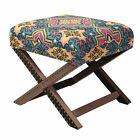 ACG Green Group Jennifer Taylor Home Native Fabric Stool Ottoman with Nail