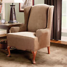 Sure Fit Stretch Stripe Wing Chair Cover