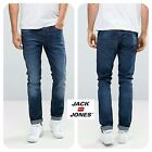 Mens Jack & Jones Designer Slim Fit Straight Tapered Leg Denim Jeans Stretch