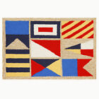 Trans-Ocean Front Porch Rug - Signal Flags