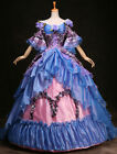 Blue Marie Antoinette Wedding Dress Medieval Renaissance Gowns Costume