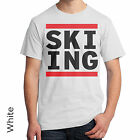 Skiing Run DMC Style T-Shirt Snowboarding Winter Sports Wake Boarding Water