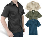 Surplus New Mens Short Sleeve Military Army Style Work Security Combat Shirt top