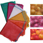 100 NET WOVEN SACKS MESH BAGS VEGETABLES LOGS KINDLING WOOD CARROT ONIONS POTATO