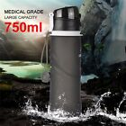 750ML Foldable Water Bottles Outdoor Drinkware Camping Climbing Hiking Silicone