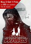 Star Wars The Force Awakens Kylo Ren Poster Print £0.99 GBP on eBay