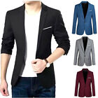 Kyпить Stylish Men's Casual Slim Fit One Button Suit Blazer Coat Jacket Tops на еВаy.соm