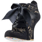 Irregular Choice Abigails 3rd Party Womens Shoes Black Gold New Shoes