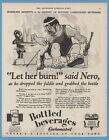 1929 Nero Fiddle Rome Burning Black Americana Character American Bottlers Ad