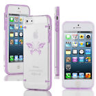 For iPhone SE 5 5s 6 6s 7 Plus Slim Clear TPU Hard Case Cover Tribal Butterfly