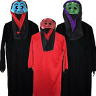 CHILDRENS KIDS GIRLS BOYS SCARY ROBE MASK HALLOWEEN FANCY DRESS COSTUME