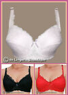 'Chloe' Red Black or White Lace Bra, Padded, Underwired, Size 36D - 46H