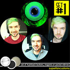 JACKSEPTICEYE SET OF 4 BUTTONS or MAGNETS or MIRRORS youtuber vlog pinback #1554