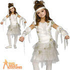 Child Mummy Costume Halloween Egypt Zombie Horror Girls Fancy Dress Outfit New