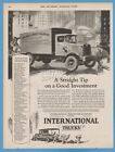 1928 International Harvester Chicago IL Wall Street Journal Delivery Truck ad