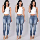 Women Pencil Stretch Casual Denim Skinny Jeans Pants High Waist Jeans Trouser LX