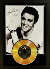 ELVIS PRESLEY SIGNED PHOTOGRAPH GOLD DISC DISPLAY.....Choice of gold disc....