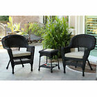 Resin Wicker Patio Chair with Cushion by Jeco - Set of 4