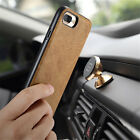 ICARER Real Leather Magnetic Car Holder Slim Back Cover Case for iPhone 7 / Plus