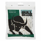 MENTHOL FILTER TIPS BULL BRAND 300 PER PACKET 6mm DIA ROLL UP CIGARETTES FILTERS