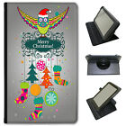 Merry Christmas Christmas Decorations Universal Leather Case For LG Tablets