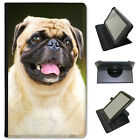 Pug Pugs Love Little Dogs Universal Folio Leather Case For Lenovo Tablets