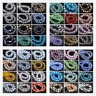 Flat Crystal Faceted Rondelle Glass Loose Spacer Beads 12mm 75Colors
