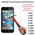 Wholesale Tempered Glass Screen Protector Guard Shield for iPhone 6S 7 8 Plus X