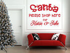 Personalised+Santa+Stop+Here+Quote%2C+Christmas+Wall+Art+Stickers%2C+Window%2C+Mirror