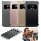 Mesh Flip Leather Smart Sleep Case Protective Cover Skin  Window Case For LG G5