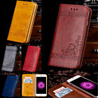 Luxury Magnetic Leather Case Wallet Flip Cover Stand For Samsung Galaxy Phones
