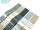 26mm Stainless Steel Brushed mesh bracelet watch Ø1.2mm wristband multicolored