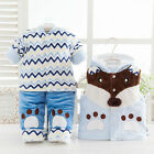 3pcs Baby Coat + Pants + Vest Kid Boy Girls Toddler Thickening Warm Winter Cloth