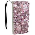 RHINESTONE BLING DIAMOND DECO 3D FOR IPHONE 5/6/7 PLUS/X WALLET CASE ROSE CRW001