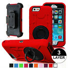 Hybrid Outer Box Case Cover Belt Clip Holster Stand for iPhone 6 6s  6 Plus 5.5