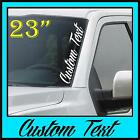 Custom Windshield Text Decal Sticker Vertical Script Banner Side Country JDM VW
