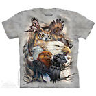 Sky Kings T-Shirt by The Mountain. Eagle Owl Birds Bugs Sizes S-5X NEW image