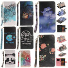 Magnet Flip Leather Wallet Case Cover Strap Stand Card Holder For Samsung Galaxy