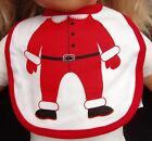 ONE X BABY GIRL BOY CHRISTMAS SANTA OR SNOWMAN BIB VELCRO WASHABLE COTTON GIFT