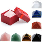 Pyramid Gemstone Crystal Healing Point Feng Shui Decor Home Office Ornament Gift