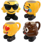 Emoticons Emoji Mug Poop Poo Heart Eyes Tears Laughing Sunglasses Shaped Mugs