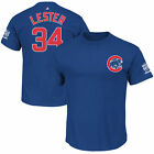 Chicago Cubs #34 Jon Lester 2016 World Series Champions Name & Number T-Shirt