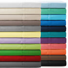BED SHEET SET SOLID ALL COLORS & SIZES 800 THREAD COUNT 100% EGYPTIAN COTTON image