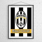 JUVENTUS CLUB BADGE FOOTBALL SOCCER POSTER PICTURE PRINT Size A5-A0 **NEW**
