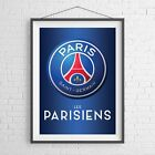 PARIS ST GERMAIN CLUB BADGE FOOTBALL SOCCER POSTER PICTURE PRINT Size A5-A0 *NEW